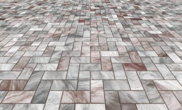 paved stone or marble tiles on the floor