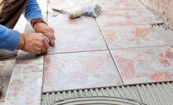 Tiler to work with tile flooring for garden